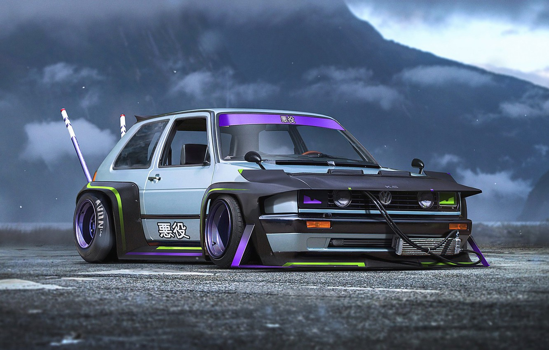 Photo wallpaper Concept, Volkswagen, Car, Golf, Future, by Khyzyl Saleem, Bosozoku