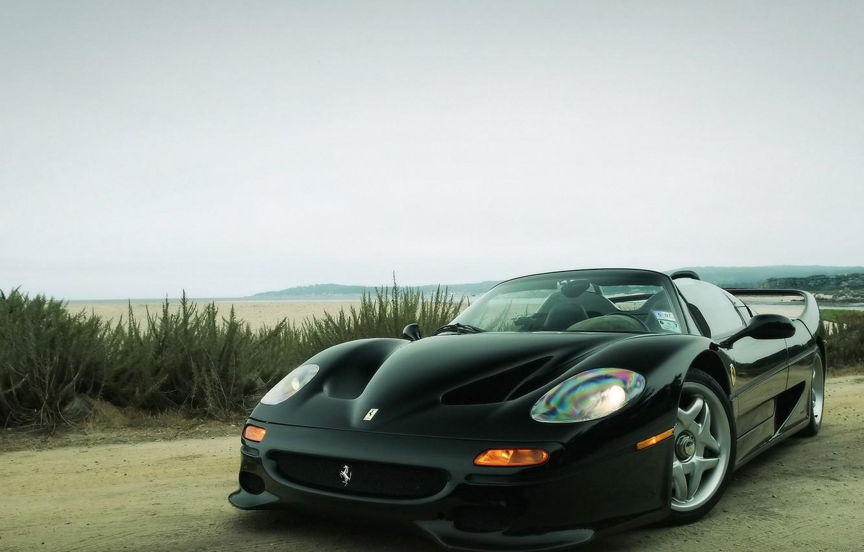 Photo wallpaper Black, Ferrari, Primer