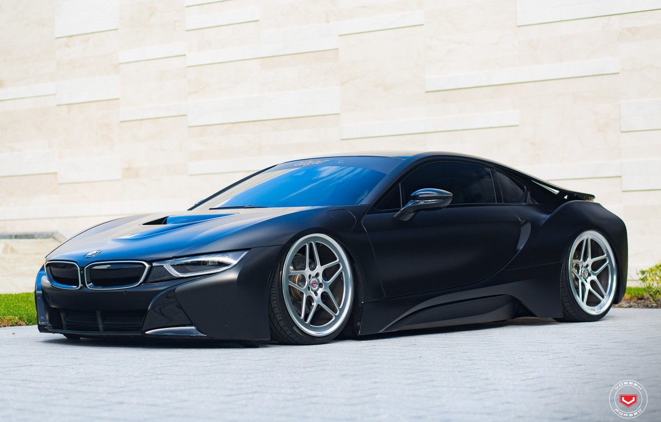 Photo wallpaper tuning, bmw, BMW, wheels, black, tuning, face, germany, vossen, low, stance, electro car