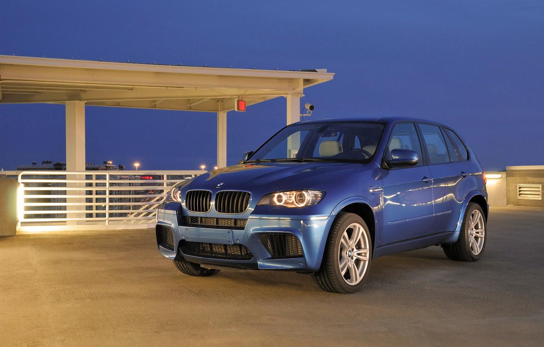 Photo wallpaper Blue, BMW, Machine, Boomer, BMW, Day, the front, SUV