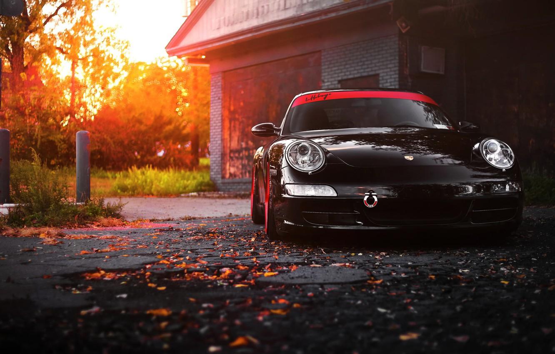 Photo wallpaper car, 911, porsche, black, carrera