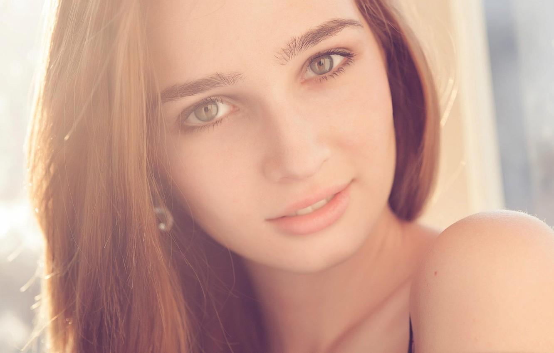 Photo wallpaper girl, smile, sweetheart, beautiful, bright, Yuli Rubinsky