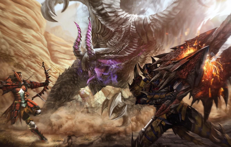 Wallpaper Monster Sword Warrior Art Archer Capcom