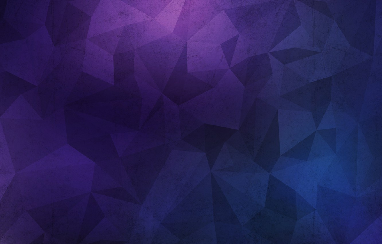 Photo wallpaper wall, texture, blue, background, grunge, violet, polygon