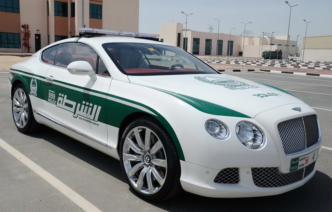 Photo wallpaper continental, bentley, police, dubai