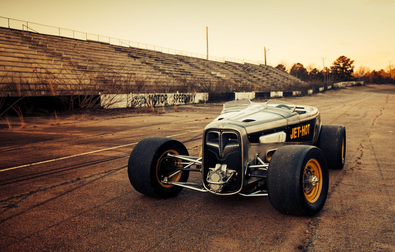 Photo wallpaper Ford, Race, American, Hot rod, Speedway, '32, FULLER MOTO, Jet-hot
