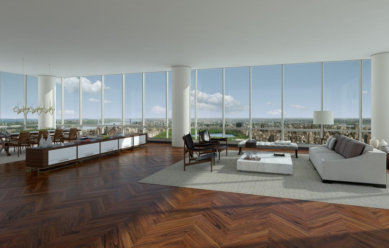 Photo wallpaper design, house, style, interior, penthouse, megapolis, new york city, living space