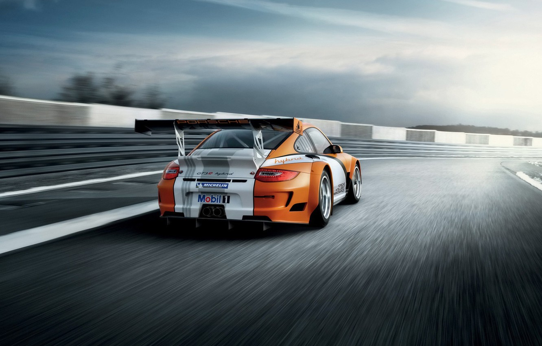 Photo wallpaper track, race, sports car, Porsche, Porsche 911