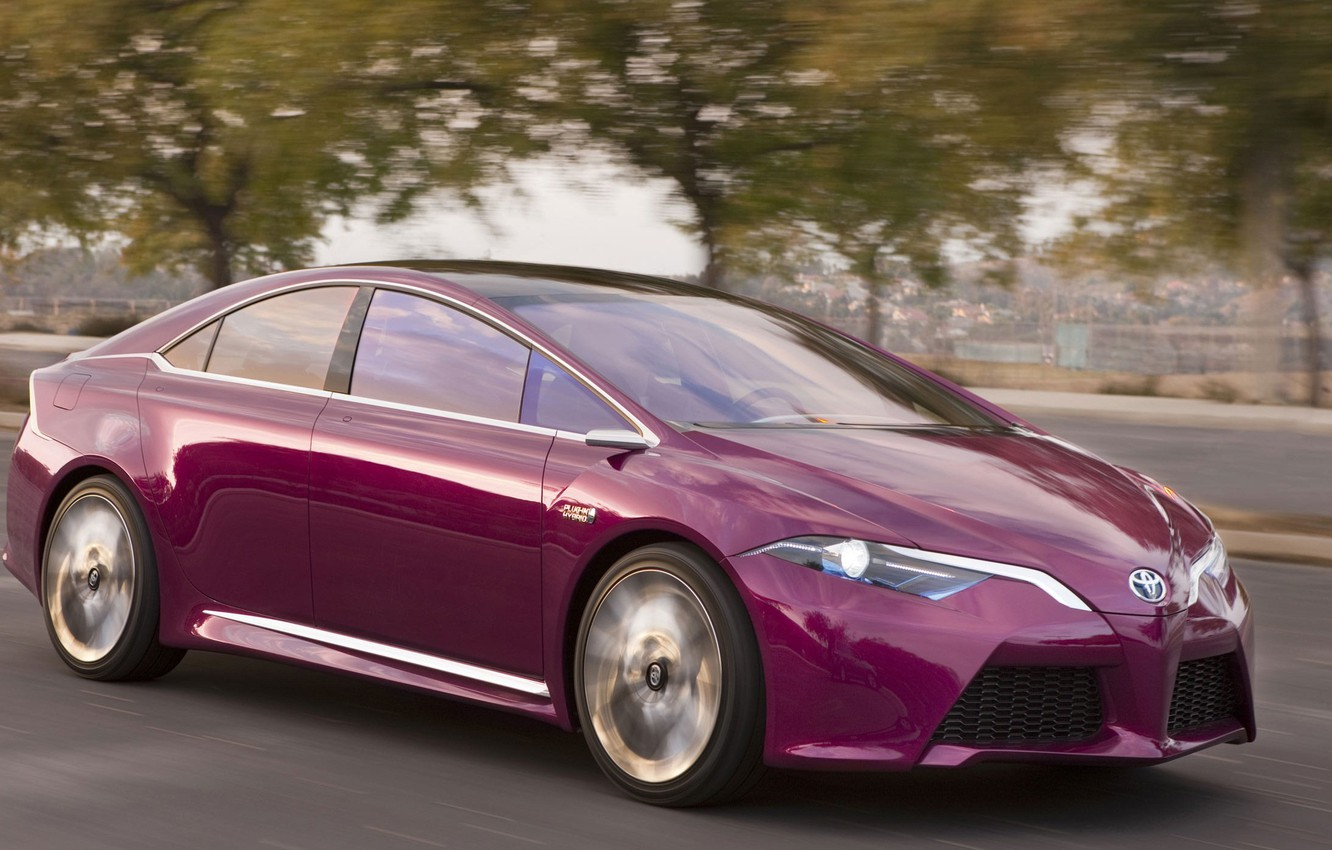 Photo wallpaper road, auto, Concept, movement, speed, Hybrid, Toyota NS4 Plug-In