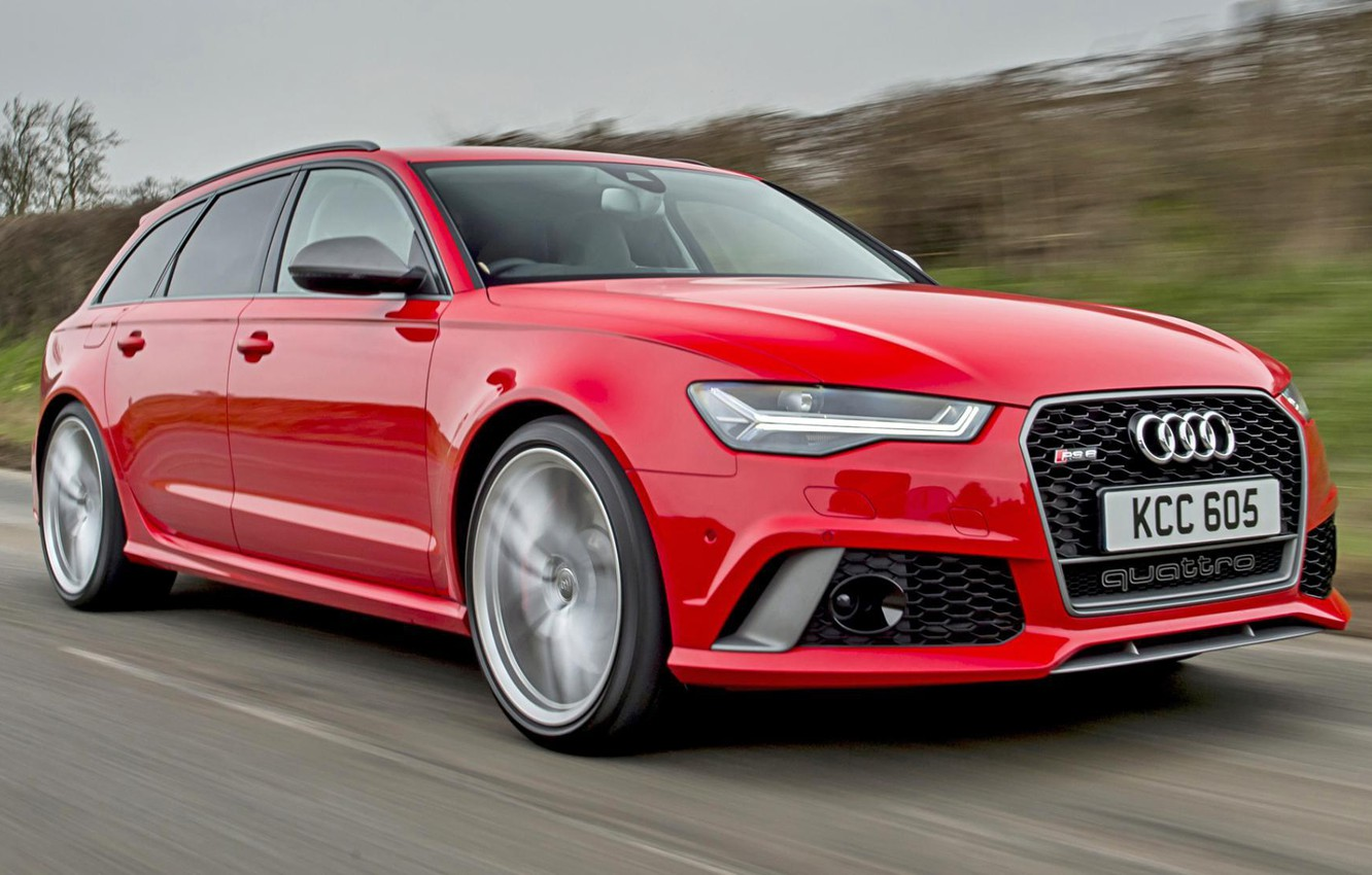 Photo wallpaper Audi, Red, Performance, Before, RS6