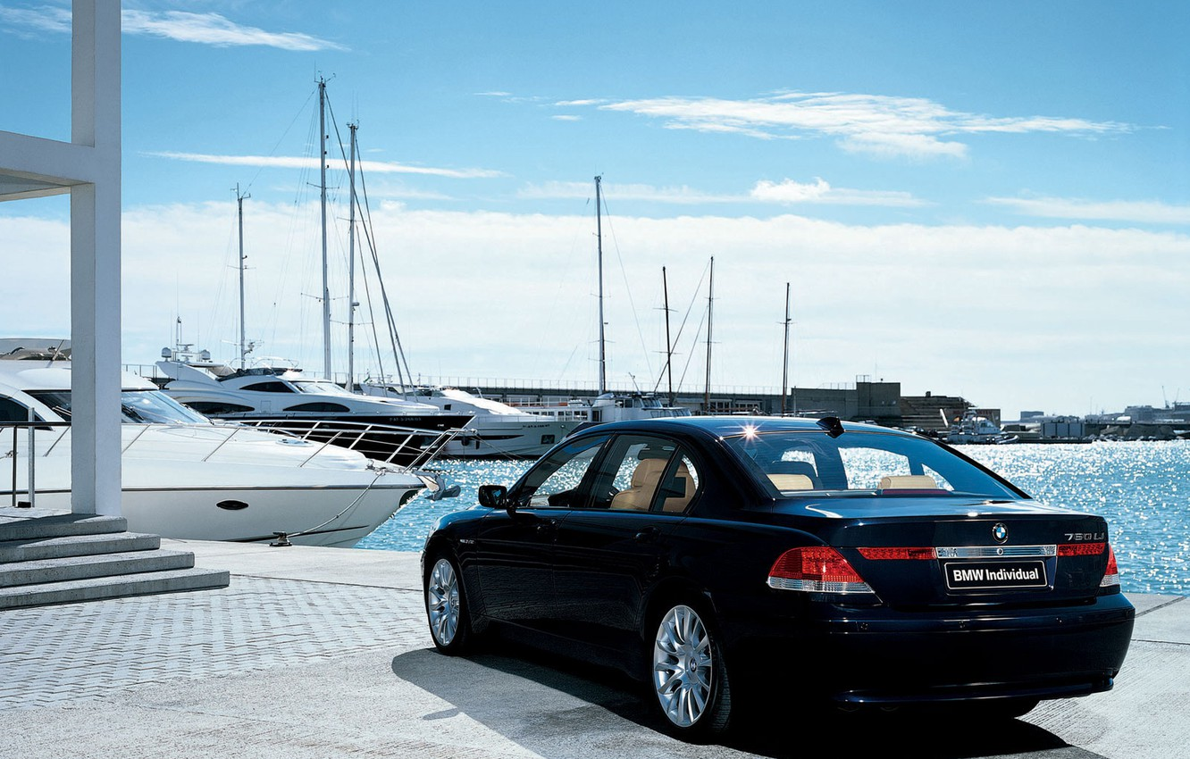 Photo wallpaper the sky, yachts, BMW