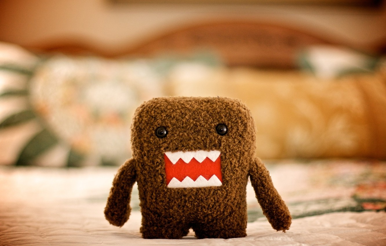 Photo wallpaper macro, style, photo, toy, art, picture, character, plush, Domo