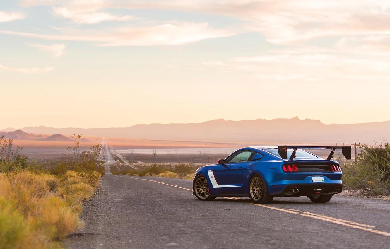 Photo wallpaper road, car, ford mustang, tuning, roush performance