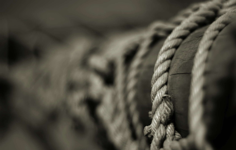 Photo wallpaper post, rope, b/W