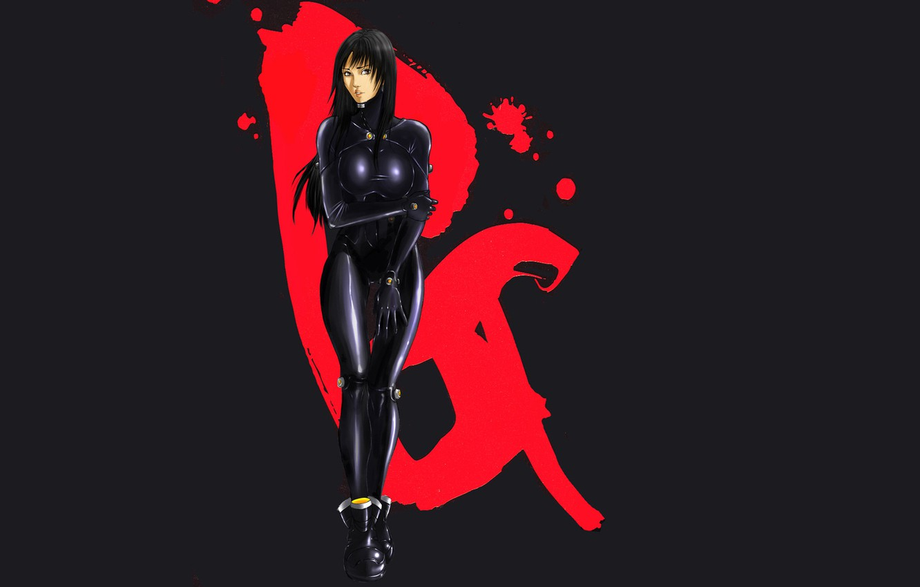 Photo wallpaper girl, anime, costume, manga, Gantz, Oku Hiroya, Rake