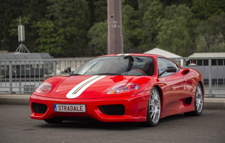 Photo wallpaper Ferrari, red, 360, road