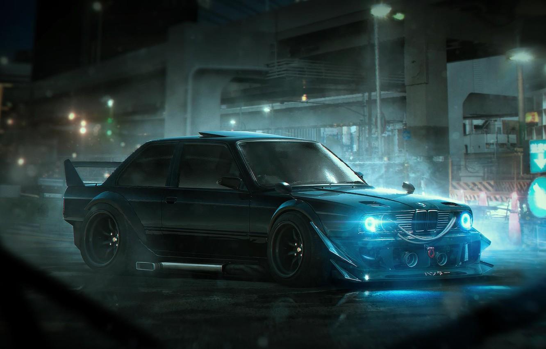 Photo wallpaper BMW, Tuning, Future, E30, Rendering, by Khyzyl Saleem