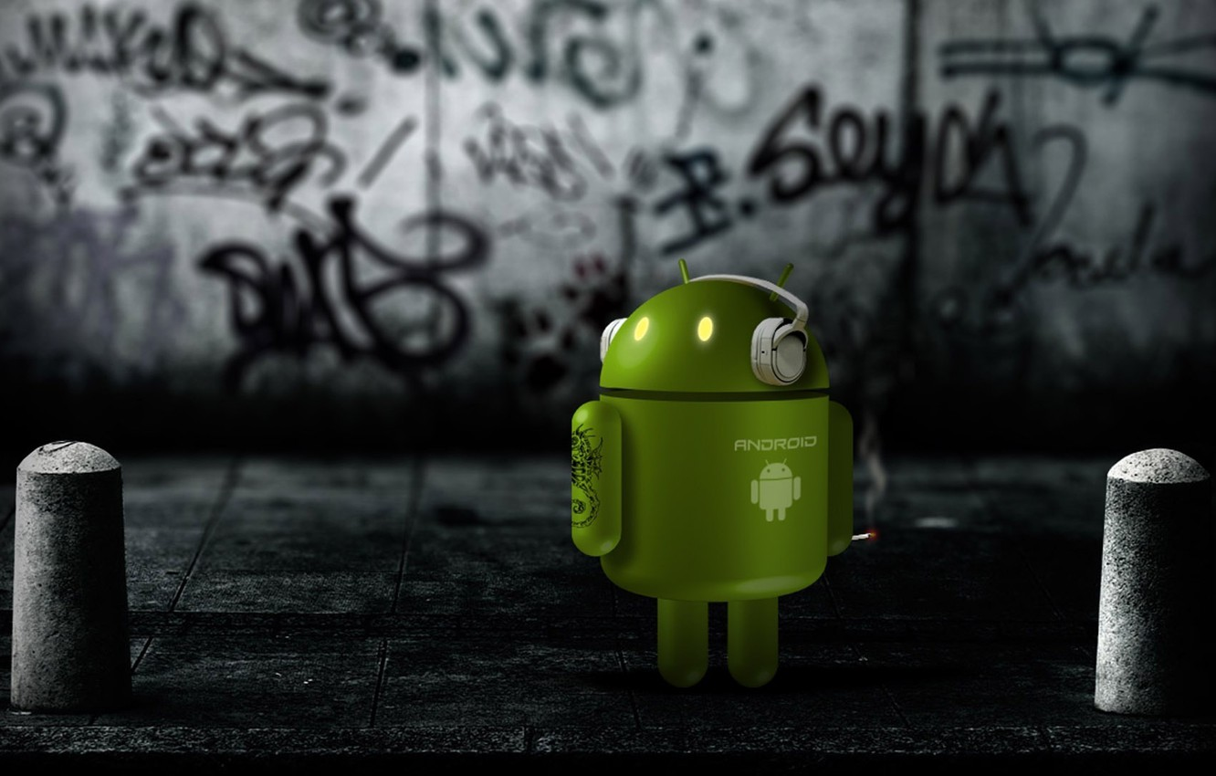 Photo wallpaper robot, Android, android, green