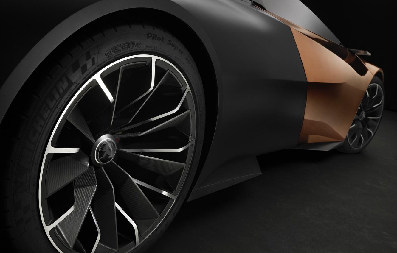 Photo wallpaper car, Concept, Peugeot, 2012, black, Onyx