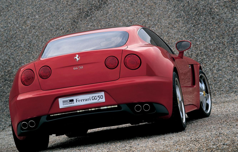 Photo wallpaper ferrari, wallpapers, 2005, pictures, by Giorgetto Giugiaro, Beautiful red, Tokyo Motor Show, Ferrari GG50, concepts