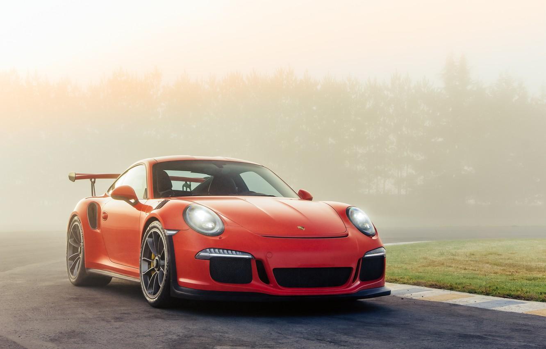 Photo wallpaper Orange, Porsche 911, GT3 RS