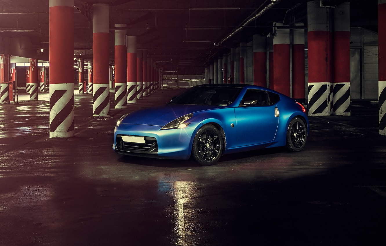Photo wallpaper car, blue, rechange, hq Wallpapers, nissan 370z