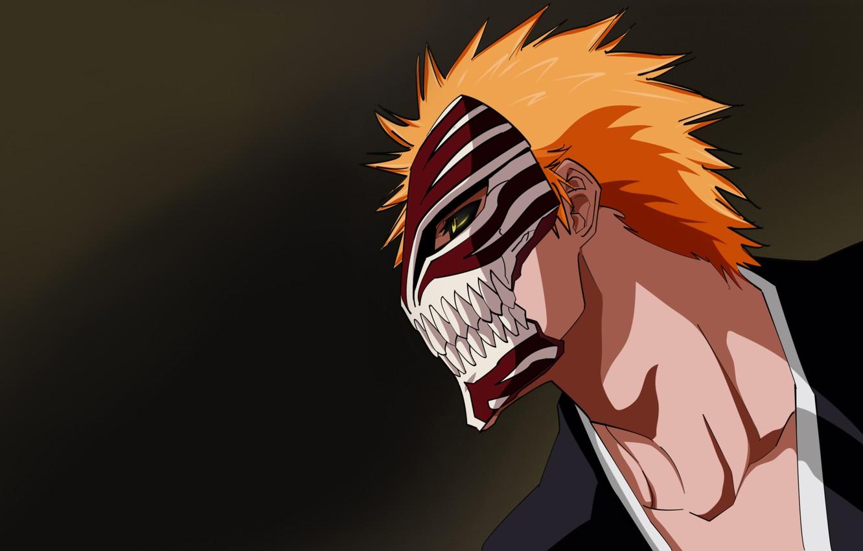 Photo wallpaper Anime, Bleach, bleach, Kurosaki Ichigo, the mask blank.