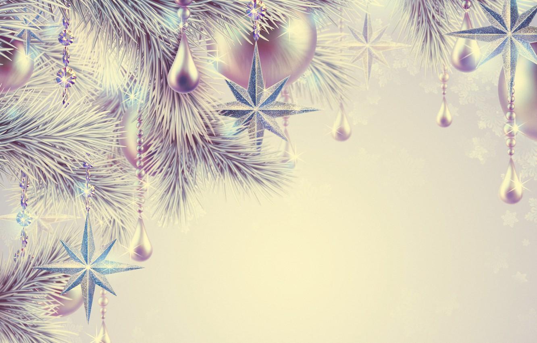 Wallpaper decoration, holiday, balls, star, Christmas, star