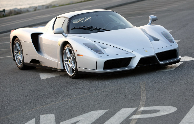 Photo wallpaper Ferrari, silver, supercar, Enzo