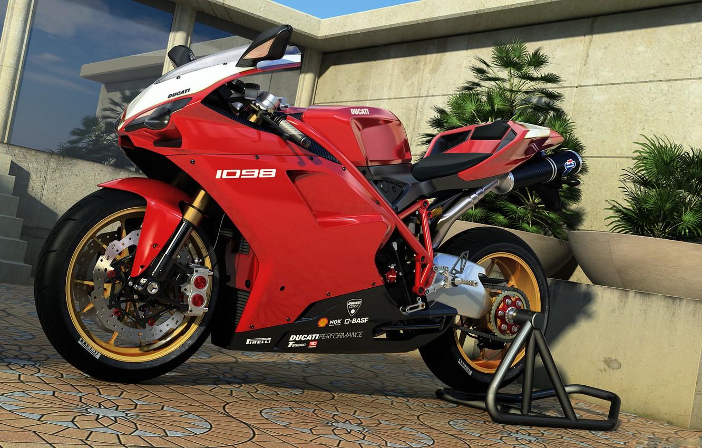 Photo wallpaper graphics, art, motorcycle, Ducati, dangeruss, 1098