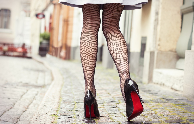 Photo wallpaper dress, legs, heels