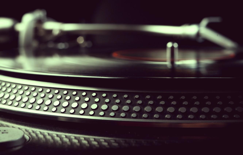 Photo wallpaper retro, vinyl, record, record player, camera