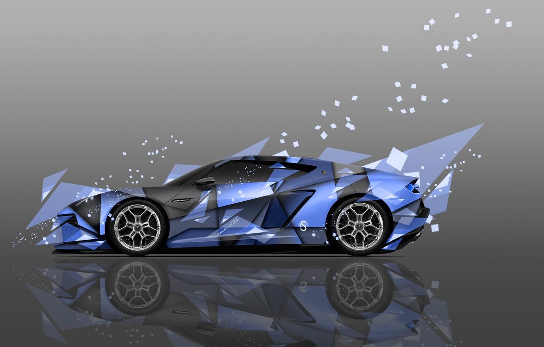 Photo wallpaper Color, Auto, Design, Blue, Lamborghini, Machine, Style, Blue, Wallpaper, Blue, Fragments, Art, Art, Abstract, Auto, …