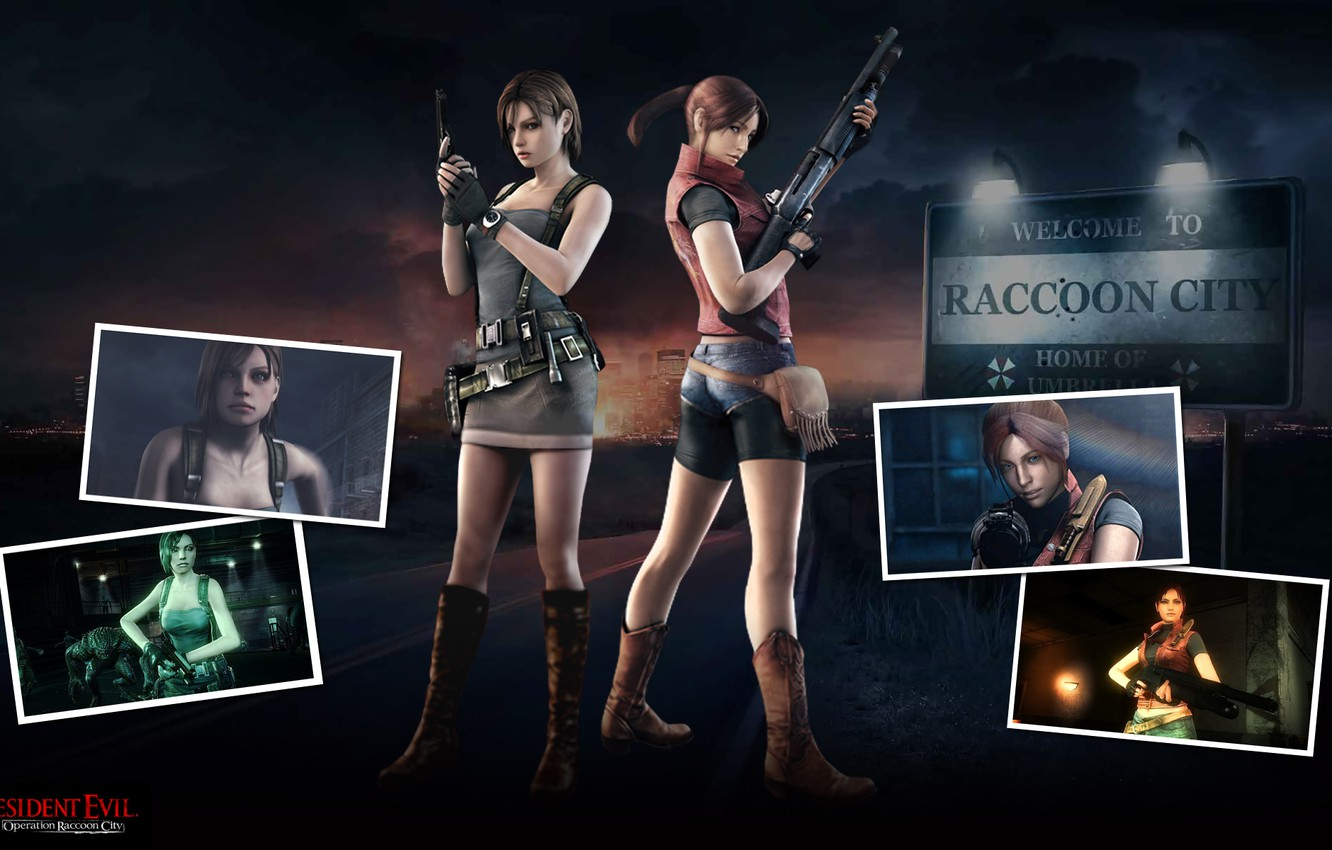 Wallpaper Weapons Jill Valentine Gun Claire Redfield Shotgun