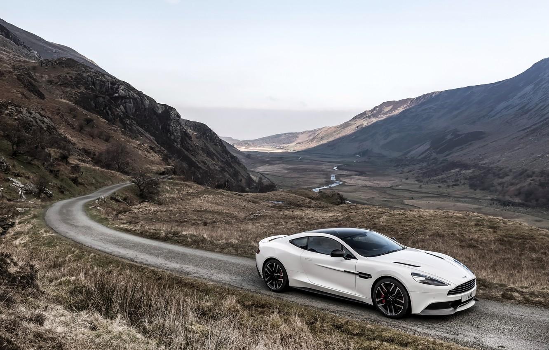 Photo wallpaper Aston Martin, Aston Martin, UK-spec, Vanquish, vankvish, 2014, Carbon White