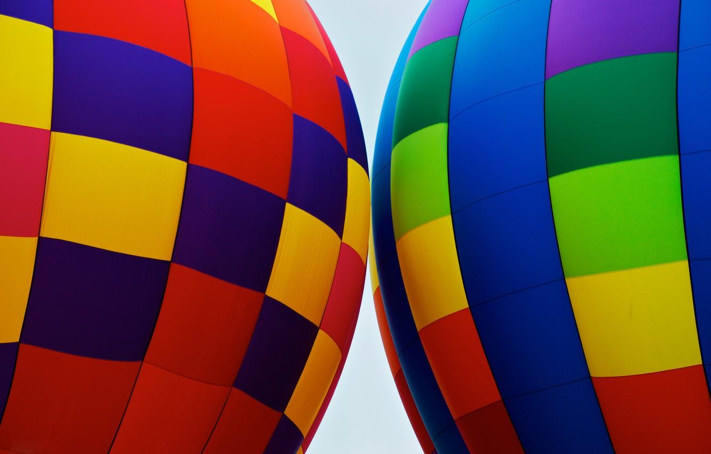 Photo wallpaper balloon, color, texture, fabric