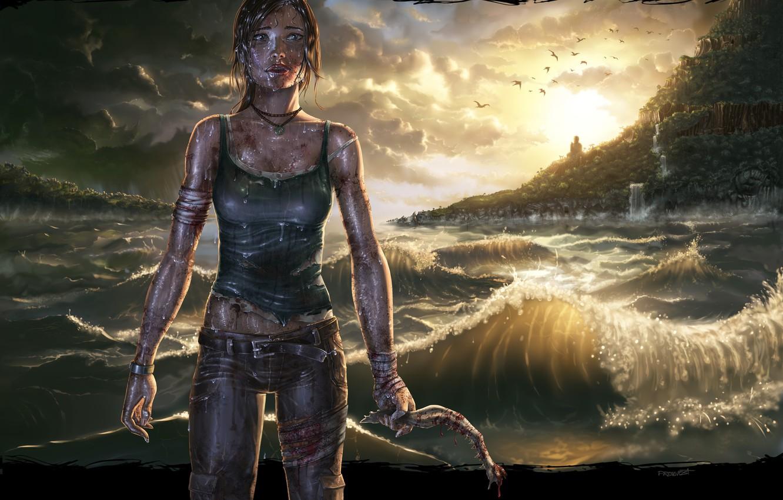 Photo wallpaper Tomb Raider, Lara Croft, Game, Lara Croft, 2013