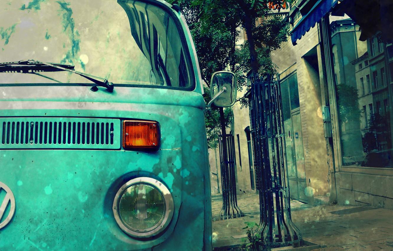 Photo wallpaper street, the trailer, hippie