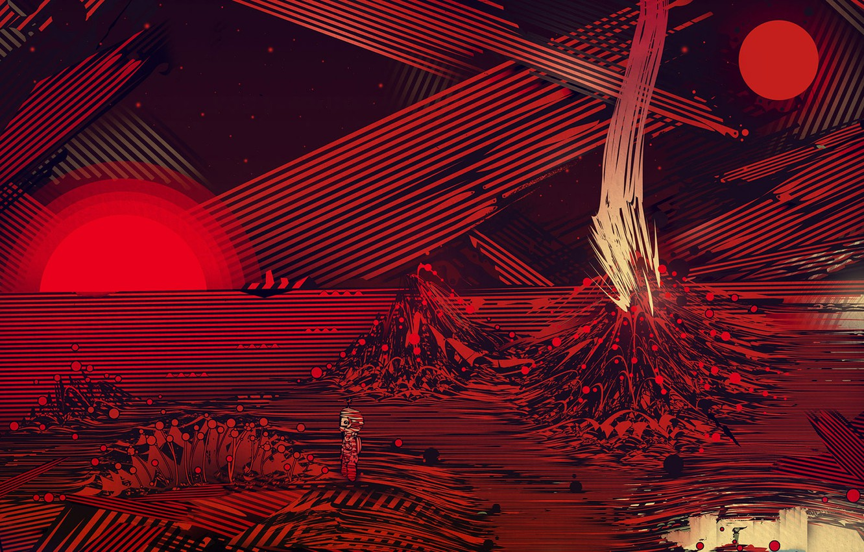 Photo wallpaper figure, graphics, planet