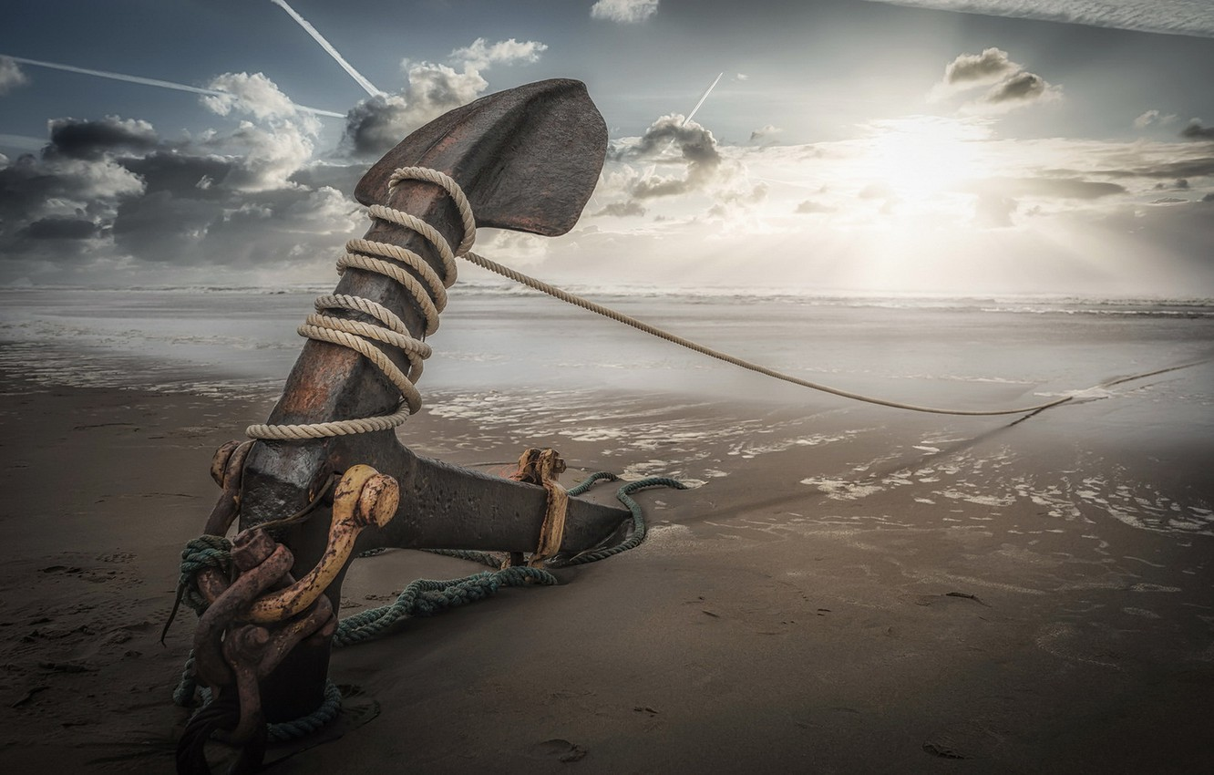 Wallpaper sea, beach, anchor images for