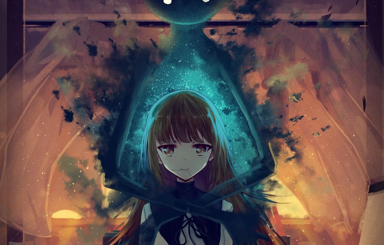 Photo wallpaper girl, sunset, room, anime, art, Ghost, schoolgirl, daikazoku63