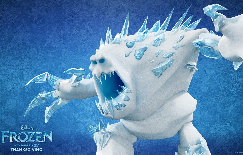 Photo wallpaper cold, winter, snow, cartoon, ice, snowman, Frozen, tree, disney, cold heart, Marshmallows