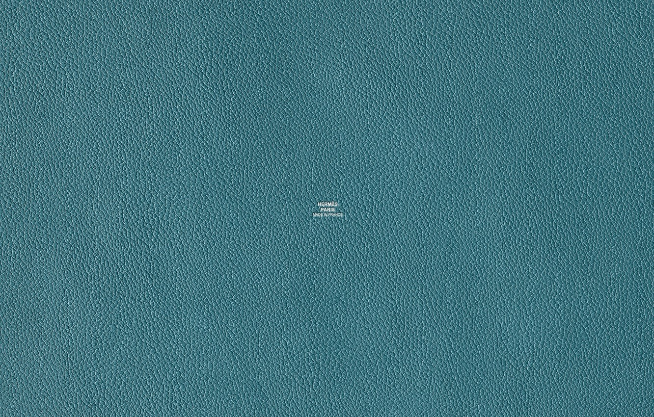 Photo wallpaper color, texture, leather, turquoise, Hermes