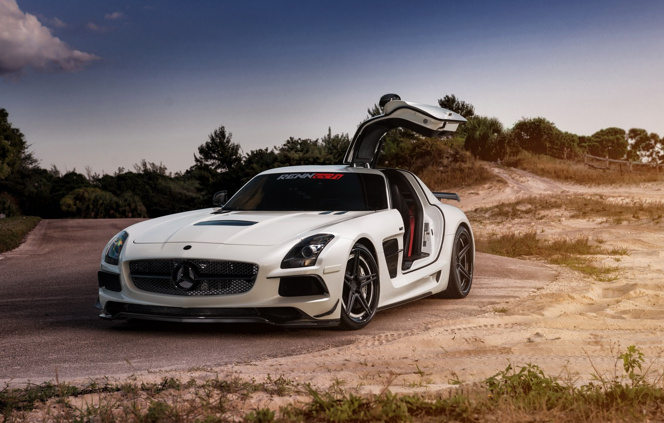 Photo wallpaper car, Mercedes, Mercedes SLS, tuning, rechange, Black Series, William Stern, RennTech