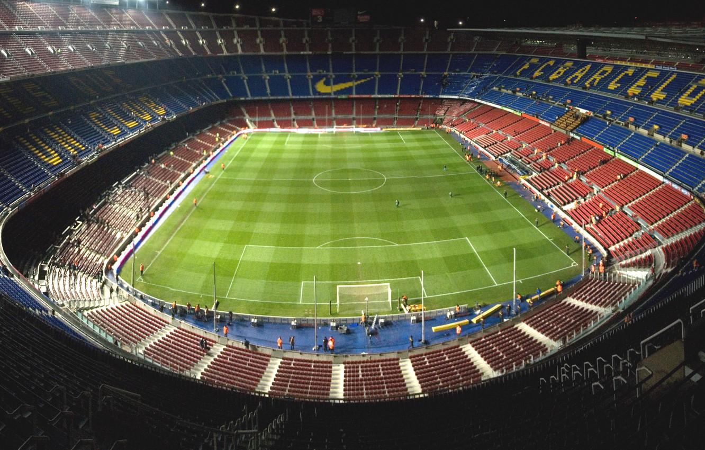 Photo wallpaper stadium, Nike, Barcelona, Camp Nou