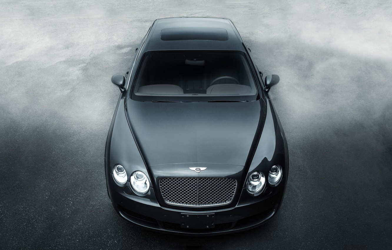 Photo wallpaper black, Bentley, Continental, before, black, front, Bentley, continental