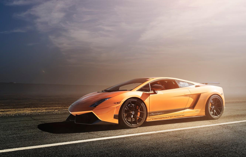 Photo wallpaper Lamborghini, Superleggera, Gallardo, orange