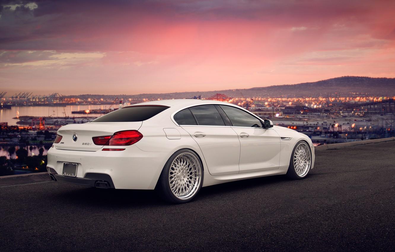 Photo wallpaper BMW, white, tuning, Gran Coupe, 650i