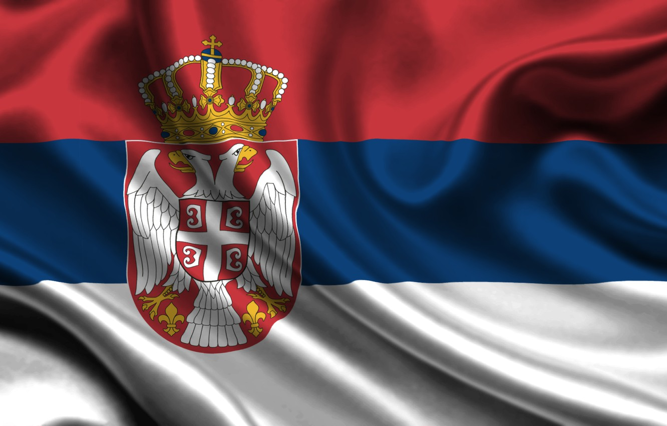 Photo wallpaper flag, Serbia, serbia