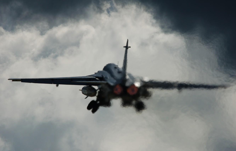 Photo wallpaper aviation, the plane, the rise, Su-24